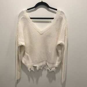 NWT Forever21 cropped sweater